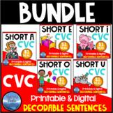 CVC Short Vowel Decodable Sentences Dollar Deal Bundle