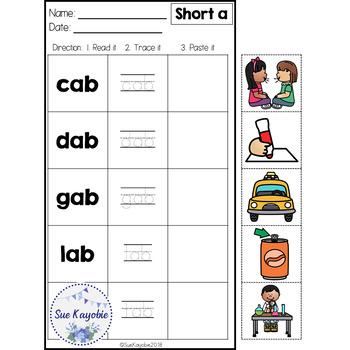 CVC Short Vowel Easy & Fun Practice