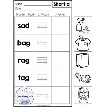 CVC Short Vowel Easy & Fun Practice Free Samples