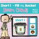 CVC Short Vowel Fill the Bucket DIGITAL Task BOOM CARDS