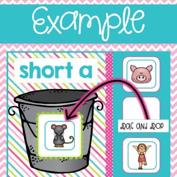 CVC Short Vowel Fill the Bucket using Google Slides and Classroom