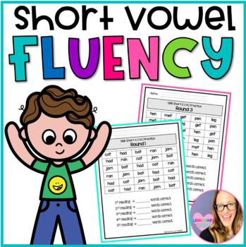 CVC Short Vowel Fluency Practice- Kindergarten and First Grade