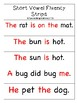 CVC Short Vowel Fluency Strips w/ Red Words (Orton-Gillingham Inspired)