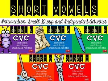 CVC Short Vowel Intervention and Practice Packet {BUNDLE}