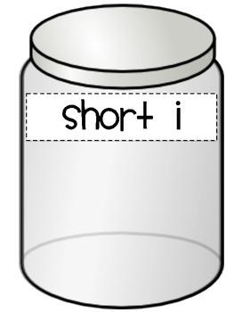 CVC Short Vowel Jar for Workstations and Centers