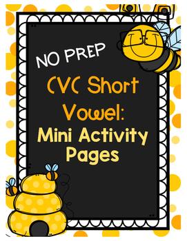 CVC Short Vowel Mini Activity Pages