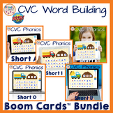 CVC Short Vowel Phonics Boom Cards™