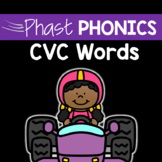 CVC Short Vowel Phonics Practice: Phast Phonics CVC Activi