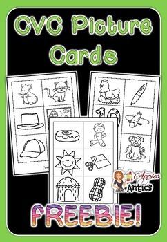 CVC Short Vowel Picture Cards