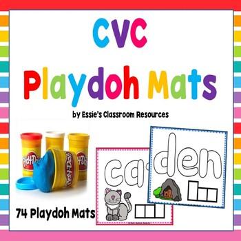 CVC (Short Vowel) Playdoh Mats