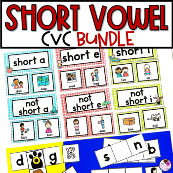 CVC Short Vowel Phonics Units **BUNDLE**