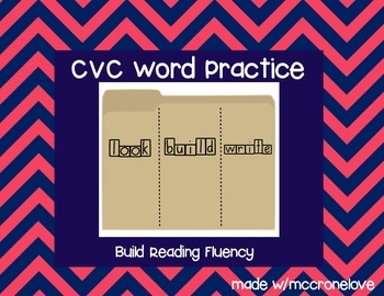 CVC Short Vowel Practice Look Say Write Flip