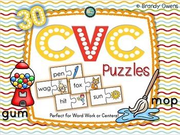 CVC Short Vowel Puzzles