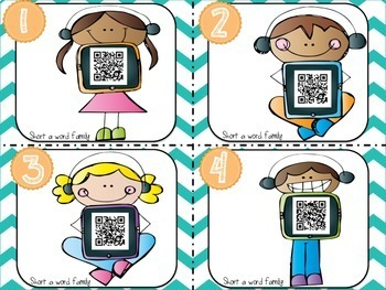 CVC: Short Vowel QR Code Task Cards BUNDLE