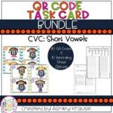 CVC: Short Vowel QR Code Task Cards BUNDLE