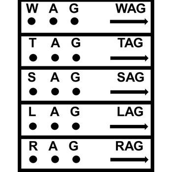 CVC Short Vowel Slide Task Cards- SPED/AUTISM/ELEMENTARY