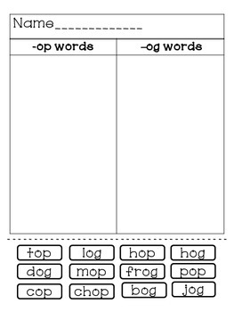 CVC Short Vowel Sort Pack