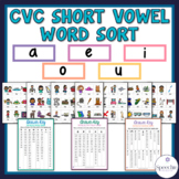 CVC Short Vowel Sorting - Including Beginning, Middle and Ending Sounds