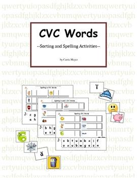 CVC Short Vowel Sorts and Spelling Activities