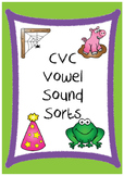 CVC Short Vowel Sound Sort