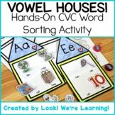 CVC Short Vowel Sounds Activity: Vowel Houses!