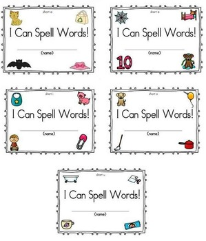CVC Short Vowel Spelling Bundle