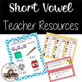 CVC Short Vowel Teacher Resources and Centers Unit