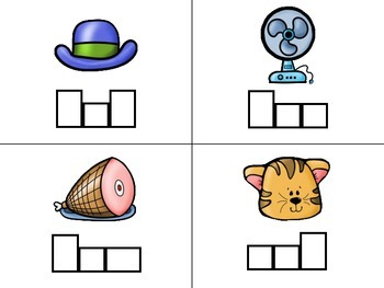 CVC Short Vowel Trace and Spell Task Cards