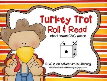 CVC Short Vowel Turkey Trot Roll & Read
