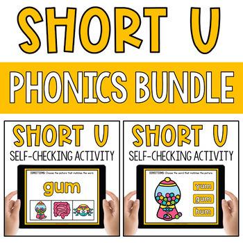CVC Short Vowel U Word Work Paperless Interactive Google Classroom PPT BOOM Deck