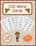 CVC Short Vowel Word Cards