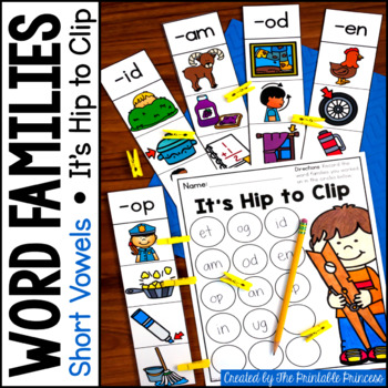 CVC Word Families: It's Hip to Clip