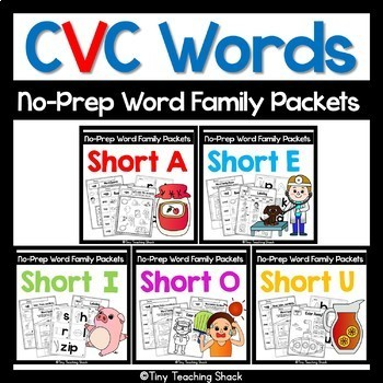 CVC Short Vowel Word Family Bundle