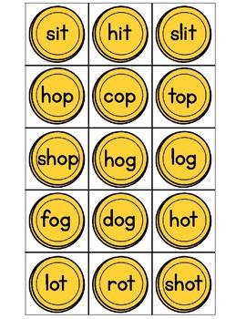 CVC Short Vowel Word Family Lucky St Patrick Coins