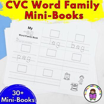 CVC Short Vowel Word Family Mini-Book Bundle