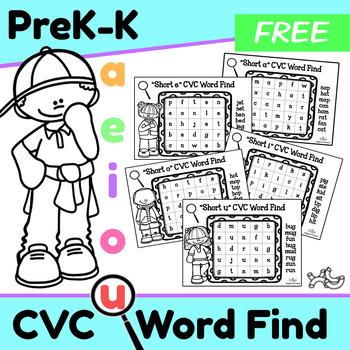 CVC Short Vowel Word Find