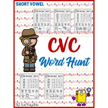 CVC Short Vowel Word Hunt