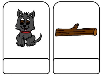 CVC Short Vowel Word to Picture Match Cards: First; Autism; Special Education