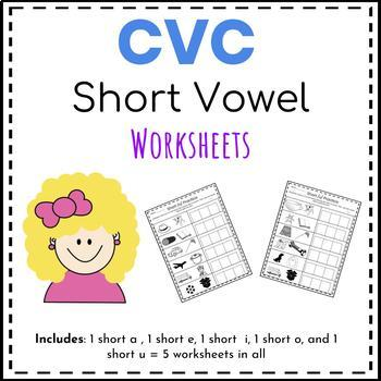 CVC Short Vowel Worksheets