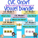 Digital Learning CVC Short Vowel Write Bundle