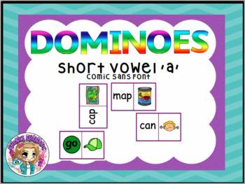 CVC Short Vowel a Dominoes Game