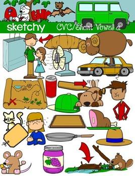 CVC Short Vowel A / Word Families Clip art