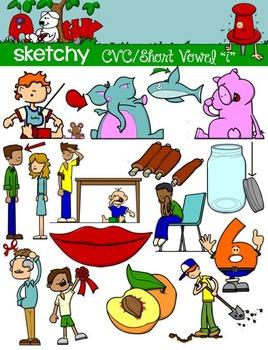 CVC Short Vowel I / Word Families Clip art