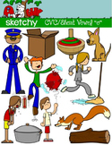 CVC Short Vowel O / Word Families Clip art