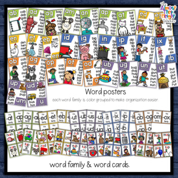 CVC Short Vowel sounds Bundle with Short A, Short U, Short E, Short I & Short O