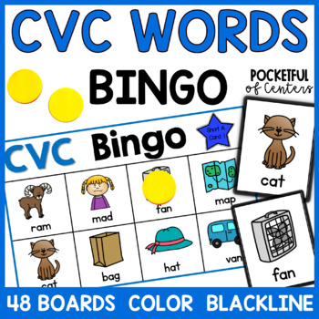 CVC Short Vowels Bingo Game