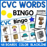 CVC Short Vowels Bingo Game