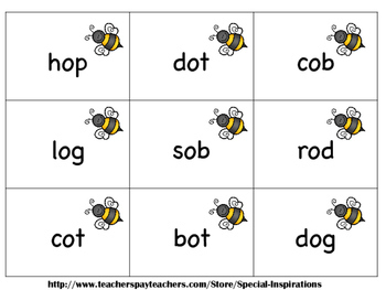 CVC Short Vowels Board Game & Sort (Beehive Theme) Literacy Center