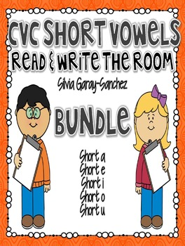 CVC Short Vowels Bundle Read and Write the Room