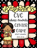 CVC Short Vowels Center Games Popcorn Theme